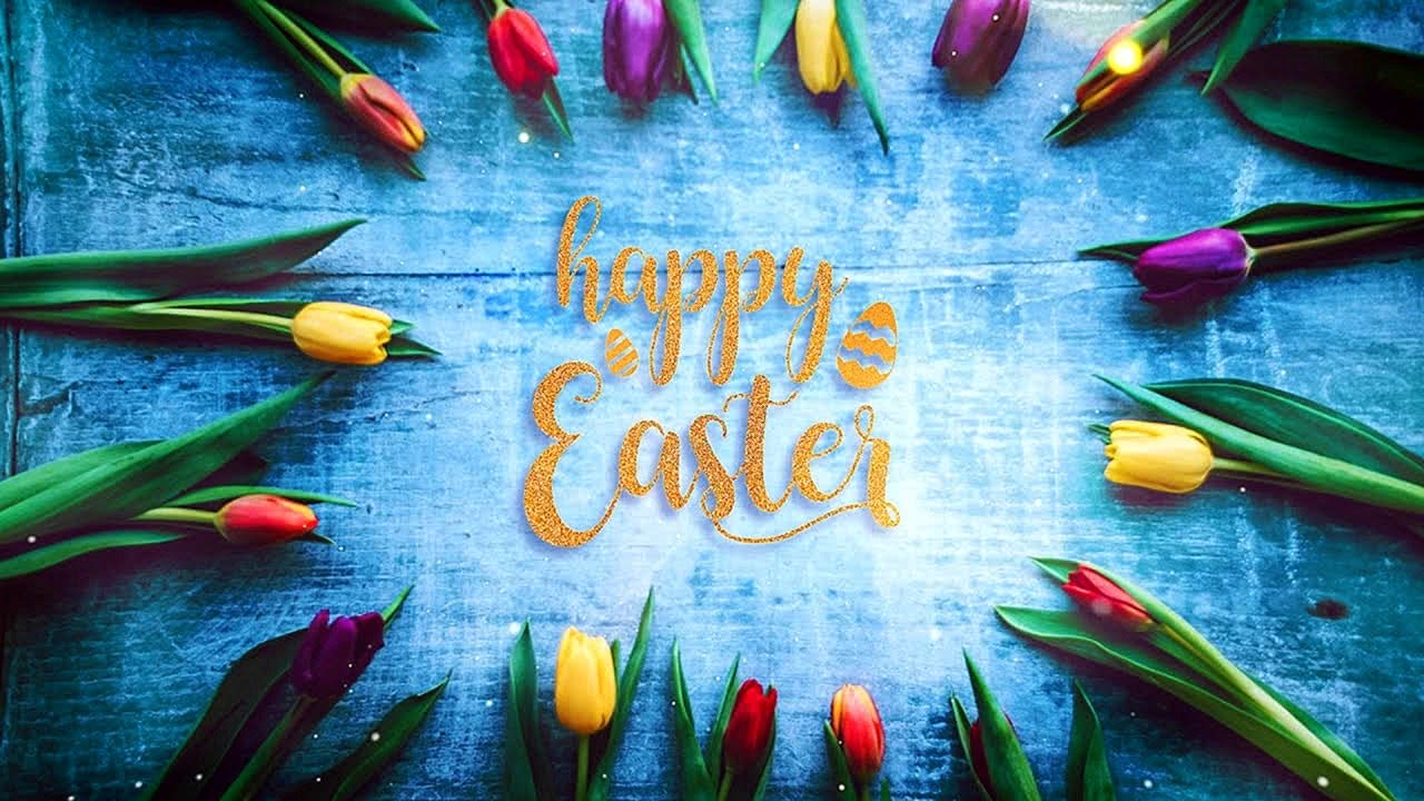 Happy Easter Video with relaxing Piano Music Screensaver