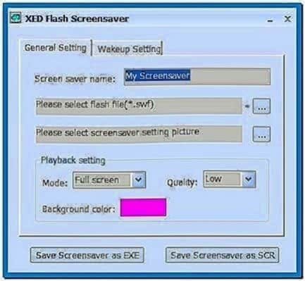 Xed Flash Screensaver Creator