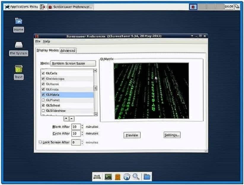 XFCE Use Gnome Screensaver