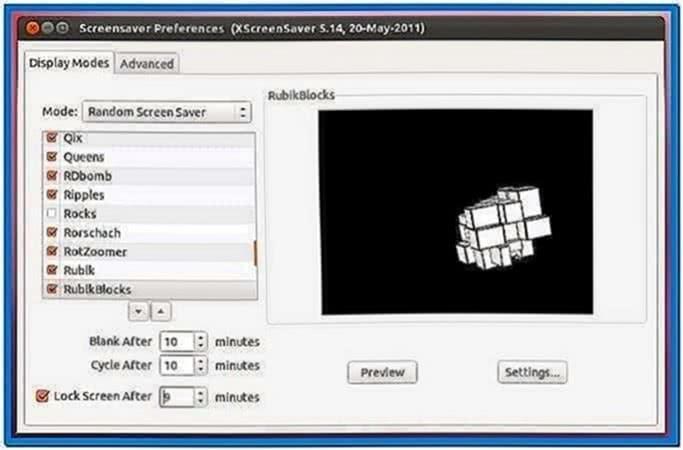 XFCE Xscreensaver Gnome Screensaver