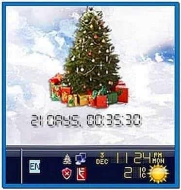 Xmas Clock Countdown Screensaver